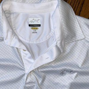 Like New Greg Norman Golf Play Dry White Polo, L